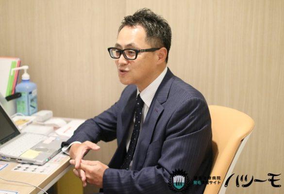 Dクリニック グループの脇坂クリニック大阪の脇坂院長に取材をしたときの写真