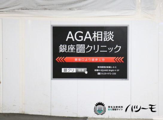 新橋駅構内の銀座総合美容クリニックの看板  (1月29日 管理人が撮影)