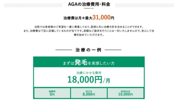 AGAヘアクリニック 料金